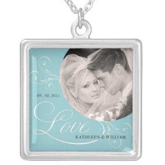 Love - Engagement Photo Pendant Necklace