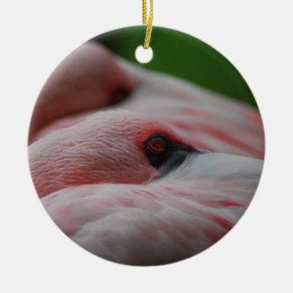 Love Flamingos Christmas Ornament