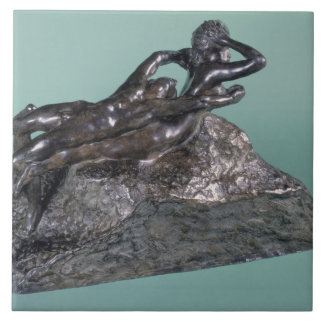 Love Fleeing, 1883-84 (bronze) Large Square Tile