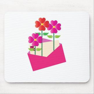 love - flower in the envelope mousepad
