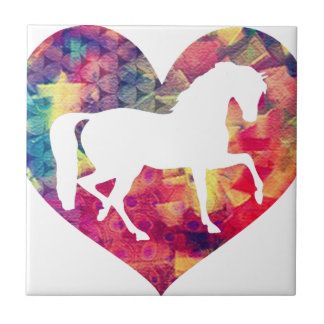 Love for Horses Small Square Tile