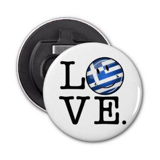 Love From Greece Smiling Greek Flag Bottle Opener