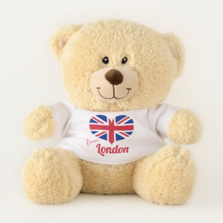 Love from London   Heart Shaped UK Flag Union Jack Teddy Bear