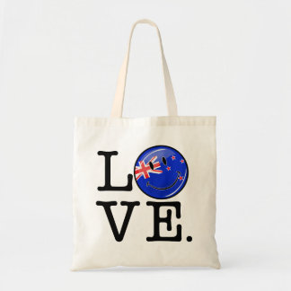 Love From New Zealand Smiling Flag Tote Bag