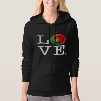 Love From Portugal Smiling Flag Hoodie