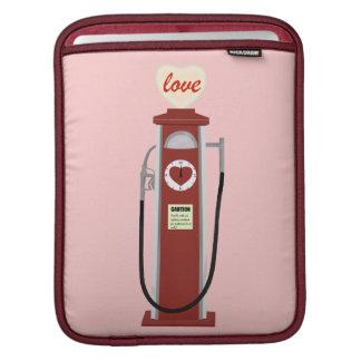 Love gas pump retro style iPad sleeve