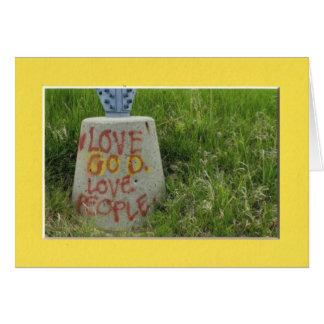 Love God Love People Greeting Card