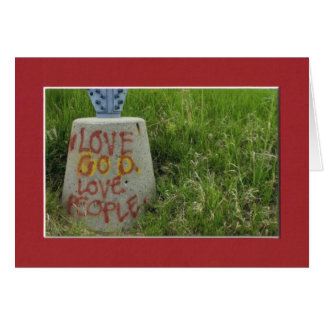 Love God Love People red Greeting Card