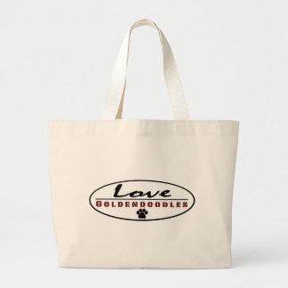 love goldendoodles large tote bag
