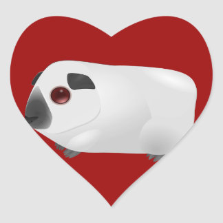 Love Guinea Pigs -- Himalayan Guinea Pig Heart Sticker