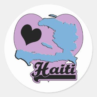 Love Haiti Classic Round Sticker