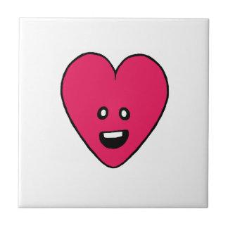Love Heart cute health indicator design Small Square Tile