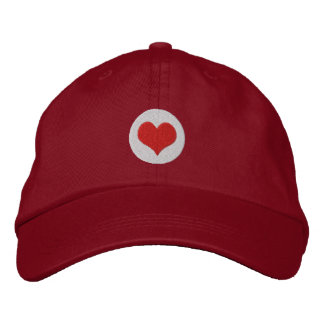 Love Heart Embroidered Hats
