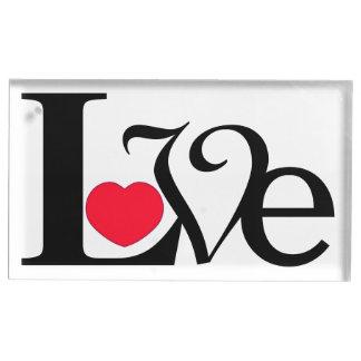 Love Heart Fancy Text Table Card Holder