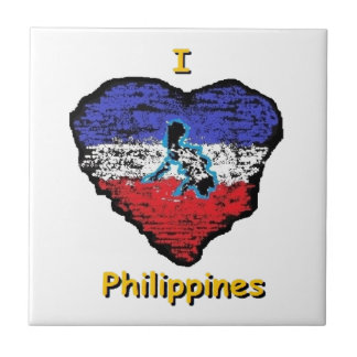 love heart philippines small square tile