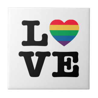 Love Heart Pride Tile