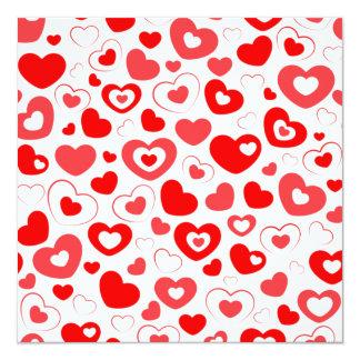 Love Hearts Envelope 13 Cm X 13 Cm Square Invitation Card