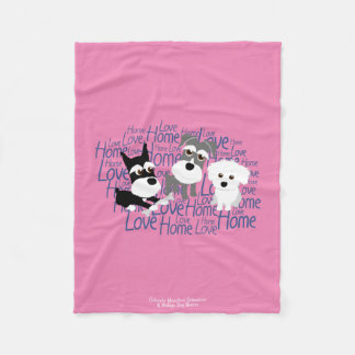 Love, Home - Customizable Schnauzer Fleece Blanket