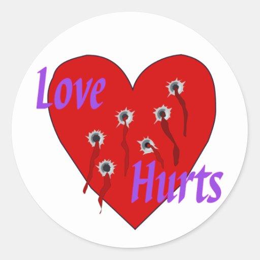 Love Hurts Stickers