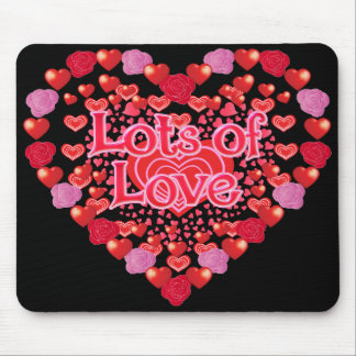 Love,I love you,Lots of Love,Family Mouse Pad