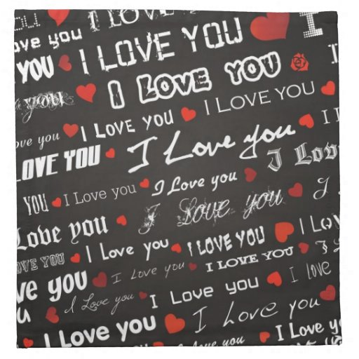 Love I Love You Napkins