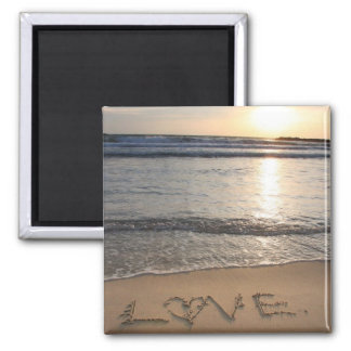 Love in Beach Sand Magnet - Great For Weddings