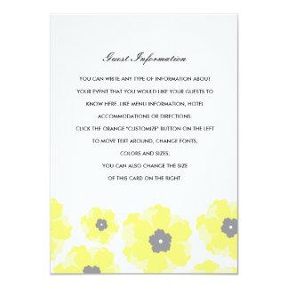 Love in Bloom Wedding Insert Card