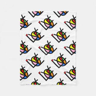love in colors fleece blanket