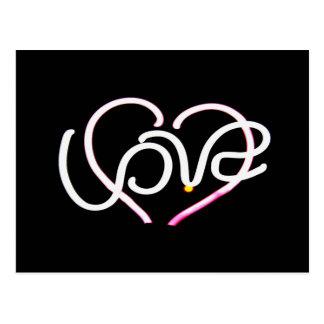 Love in Neon - Modern Romance Postcard