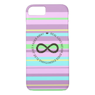 Love Infinity candy stripe iPhone 7 Case
