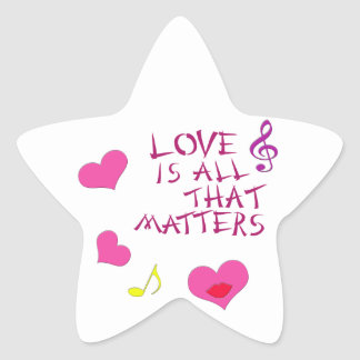 Love is all that matters star stickers