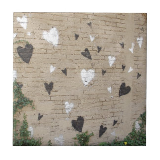 Love Is Black And White Small Square Tile
