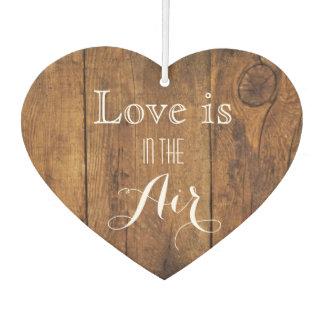 Love is in the Air Rustic Barn Wood Wedding Favor