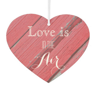 Love is in the Air Rustic Red Barn Wood Wedding