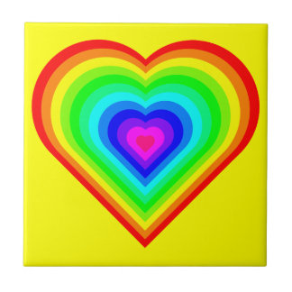 Love is Love in Neon Small Square Tile