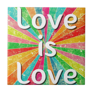 Love is Love Small Square Tile