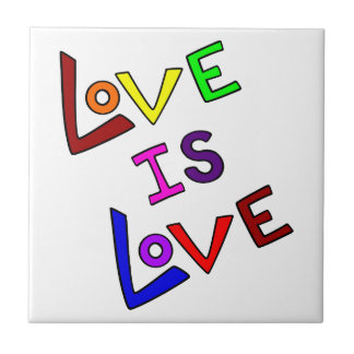 LOVE IS LOVE! SMALL SQUARE TILE