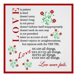 Love is Patient... | 1 Corinthians 13:4-8 Poster