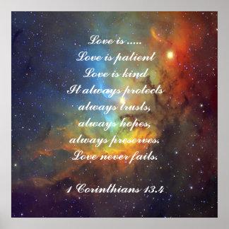 Love is patient Corinthians Poster