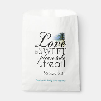 Love is Sweeet Beach Favor Favour Bags