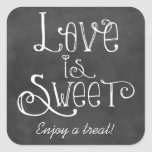 Love is Sweet Favour Sticker | Chalkboard Charm