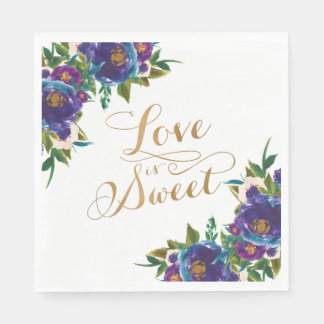 Love is Sweet Floral Napkins Disposable Serviette