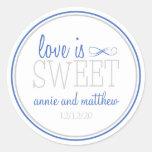 Love Is Sweet Labels (Blue / Silver)