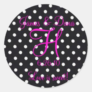 Love is sweet! Monogram Wedding sticker