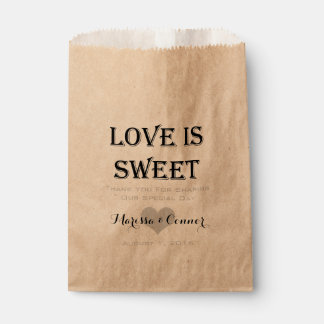 Wedding Favor Bags Nz : Love Is Sweet Personalized Wedding Favor Bag Favour Bags