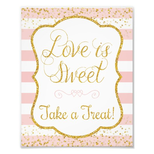Love Is Sweet Take a Treat Sign • 8 x 10 Print