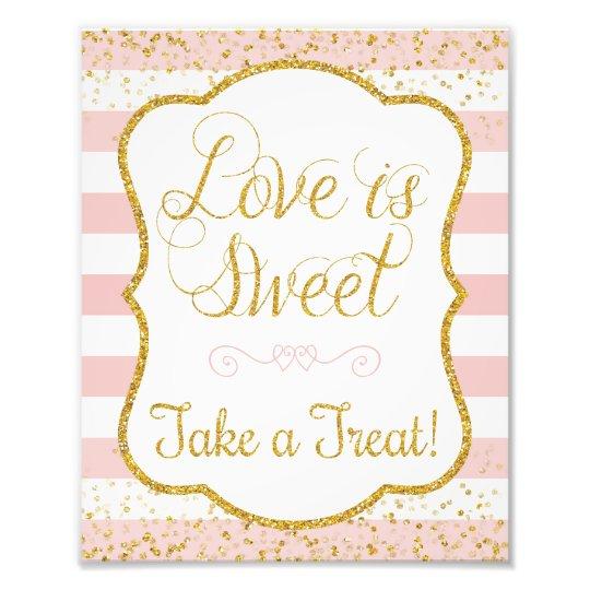 Love Is Sweet Take a Treat Sign • 8 x 10 Print Art Photo