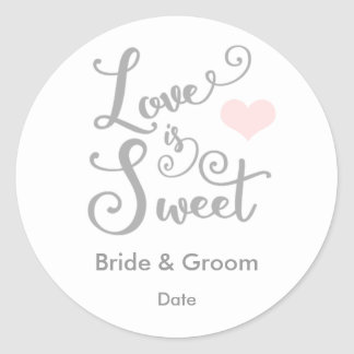 Love is Sweet Wedding Favor Sticker