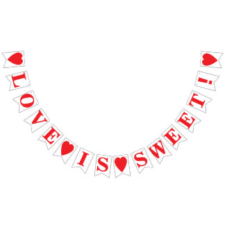 LOVE IS SWEET! WEDDING SIGN DECOR BUNTING