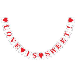 LOVE IS SWEET! WEDDING SIGN DECOR BUNTING